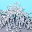 Bridal Flower Pearl Crystal Wedding Headpiece Hair Rhinestone Comb Accessories