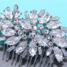 Bridal Wedding Crystal Rhinestone Vintage Style Hair Clip Comb Headpiece