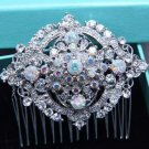 Vintage Style Aurora Rhinestone Crystal Hair Comb Wedding Head Accessories