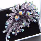 Vintage Rhinestone Bridal Hair Clip Purple Crystal Flower Wedding Headpiece