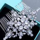 Ivory Pearl Wedding Headpiece Bridal Crystal Rhinestone Hair Comb Jewelry