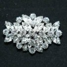 Crystal Rhinestone Diamante Wedding Bridal Oval Brooch Pin Jewelry Accessories