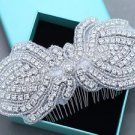 Wedding Rhinestone Bridal Crystal Applique Hair Comb Headpiece Accessories