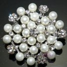 Ivory Pearl Brooch Bridal Crystal Jewlery Wedding Brooch Pin Broach