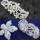 Mix 3 Assorted Vintage Wedding Bridal Flower Rose Rhinestone Crystal Hair Combs