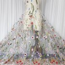 Wedding Dress Flower Embroidered Lingerie Off White Floral Lace Cloth Fabric 1 M