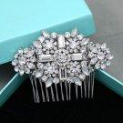 Bridal Rhinestone Comb Wedding Hair Head Clip Crystal Headpiece Jewelry