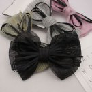 A Pair of Black Color Chiffon Shoes Decoration Summer Shoe Clips