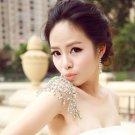 1 Piece Rhinestone Crystal Halter Shoulder Necklace Wedding Bridal Bra Applique