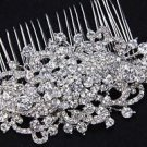 Vintage Style Bridal Headpiece Wedding Crystal Rhinestone Large Hair Comb