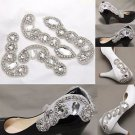 Wedding Crystal Shoe Decoration Rhinestone Bridal Shoe Applique Patch