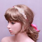Pearl Rhinestone Applique Vintage Wedding Headpiece Bridal Crystal Hair Headband