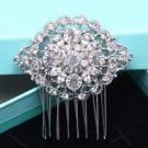 Wedding Rhinestone Oval Headpiece Crystal Hair Comb Bridal Accessories