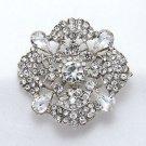 Bridal Crystal Rhinestone Broach Wedding Brooch Pin Cake Decoration Jewelry