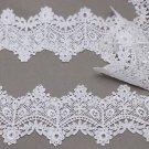1 Meter Off White Ivory Bridal Wedding Flower Floral Leaf Lace Applique Trim