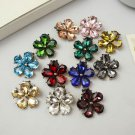 A Pair Rhinestone Color Flower Crystal Wedding Bridal Shoe Clips Accessories