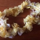 Yellow Organza Flower Craft Dress Sewing Elastic Long Trim - 1 YARD
