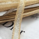 2 Meter Clear Beaded Crystal Wedding Sash Gold Chain Trim Iron Sew Applique