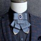 Party Men Groom Bridal Wedding Pre Tied Star Ribbon Rhinestone Bow Tie Neck Tie