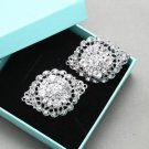 Oval Vintage Rhinestone Crystal Bridal Shoes Decoration Wedding Shoe Clips