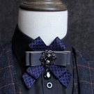 Dangle Rhinestone Crystal Mens Neck Tie Wedding Party wedding Bow Tie Necktie