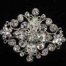 Vintage Style Bridal Rhinestone Jewelry Crystal Pin Wedding Brooch Accessories