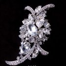 Large Vintage Style Rhinestone Crystal Wedding Brooch Pin Bridal Jewelry