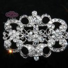 Vintage Style Rhinestone Crystal Silver Wedding Brooch Pin Jewelry Accessories