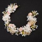 Wedding Bridal Vintage Rose Flower Crystal Tiara Pearl Headpiece Hair Piece