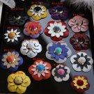 A Pair Vintage Leather Flower Rose Fashion Shoe Clips Decoration