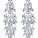 Wedding Chandelier Drop Cubic Zircon Zirconia Crystal Stud Earrings
