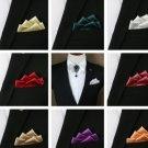 Color Satin Polyester Groom Wedding Men Pre Tied Folded Handkerchief