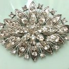 Vintage Style Rhombus Rhinestone Crystal Brooch Pin Jewelry Accessories