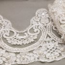 Bridal Champagne Pearl Beaded Wedding Lace Trim Veil trim Per 1 Meter