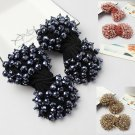 A Pair Beaded Crystal Beads Bow Shoe Clips Christmas Party Charms