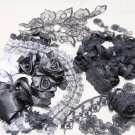 Bridal Wedding Veil Black Dress Mix Lace Fabric Package DIY