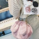 Lovely Rabbit Ear Fur Bag Female Women Autumn Winter Clutch Handbag Shoulder Bag