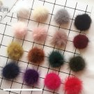 2 pcs -  Real fur Semi Pom Pom Furry Large Raccoon Fur Balls Pom Pom Craft DIY