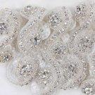 Crystal Rhinestone Diamante Wedding Sash Belt Headband Trimmed Applique DIY Trim