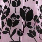 Woman Fashion Silk Flower Pink Pattern Soft Neck Scarf