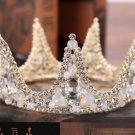 Bridal Crystal Rhinestone Vintage Wedding Princess Crown Gold Hair Accessories