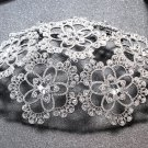 Bridal Silver Crystal Flower Veil Cap Wedding Princess Hair Accessories