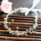 Bridal Flower Rhinestone Crystal Wedding Pearl Princess Tiara Hair Accessories