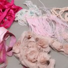 Bridal Wedding Veil Pink Azalea Dress Mix Lace Fabric Package DIY