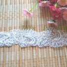 Bridal Dress Pearl Beads Sewing Material Wedding Lace Applique Trim - 1 Yard