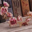Bridal Crystal Mauve Tone Flower Butterfly Wedding Tiara Hair Accessories