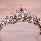 Bridal Crystal Pearl Beads Wedding Princess Gold Crown Hair Accessories