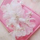Wedding White Organza Flower Hair Alligator Clip Bridal Headpiece Fascinator