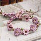 Forest Style Bridal Woodland Wedding Purple Flower Hair Tiara Hair Accessories