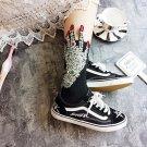 Punk Style Hand Sequin Fashion Applique Ladies Women Black Short Socks